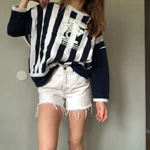 Vintage 80's oversized striped pullover